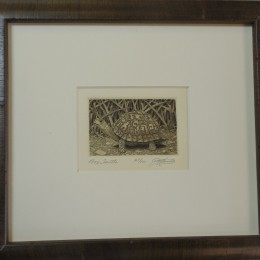 reptile etching