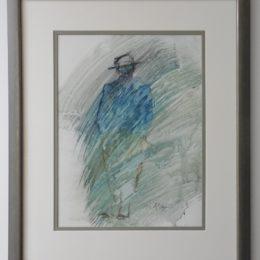 Les McCann Watercolor of Miles Davis