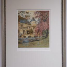 #40 Schloss Pottenbrun - color etching