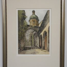 #88 Salzburg, St. Peter - color etching