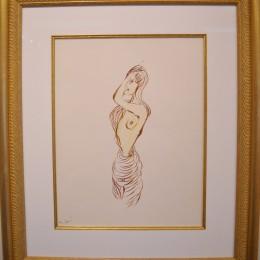 Miles Davis marker drawing