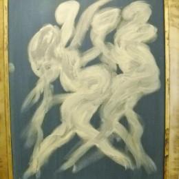 Miles Davis acrylic painting