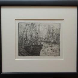 Leon Dolice etching print