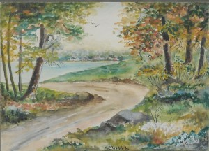 M.E. Hobbs watercolor