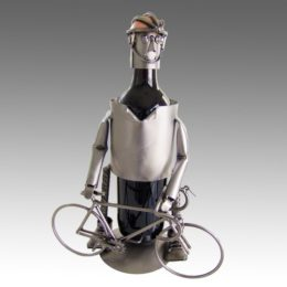 H&K Steel Wine Bottle Caddy
