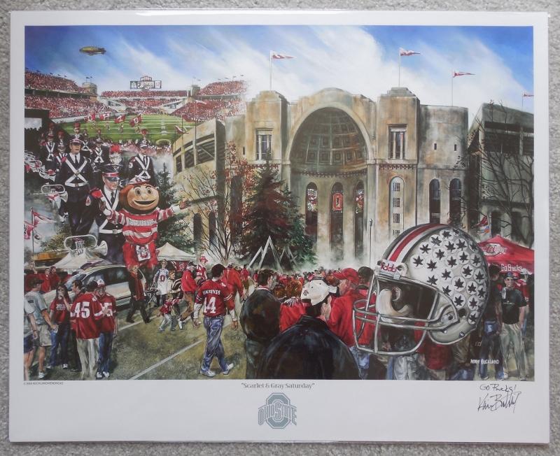 OSU Buckeyes NCAA Football poster