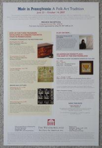 Pennsylvania Folk Art show poster