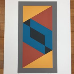 Limited edition abstract silkscreen