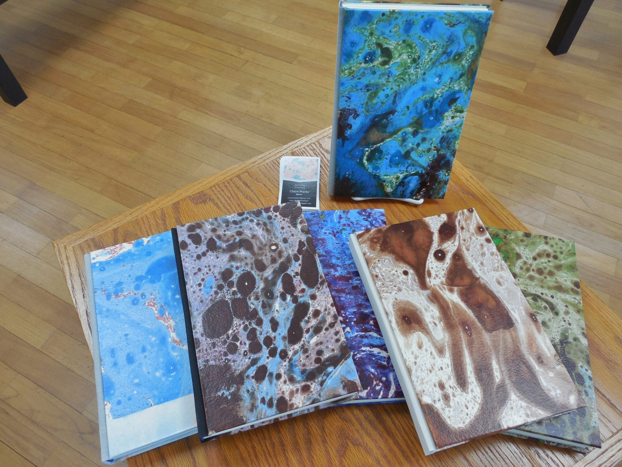 Claire Marks - Marbled Cover Sketchbook